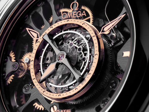 The hollowed dials copy watches have tourbillons.
