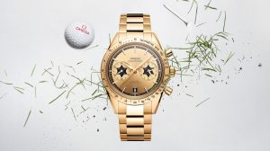The 18k gold fake watches are designed for men.