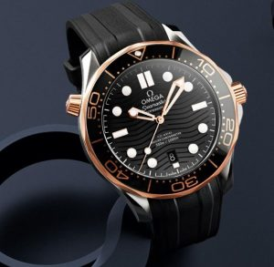 The black dial fake watch is water resistant.