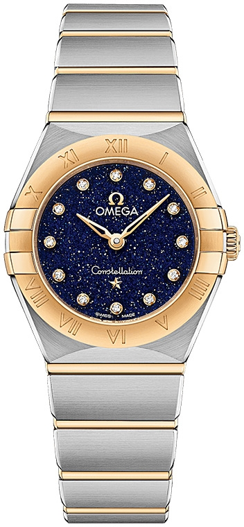The charming blue dial makes this best fake Omega more charming.